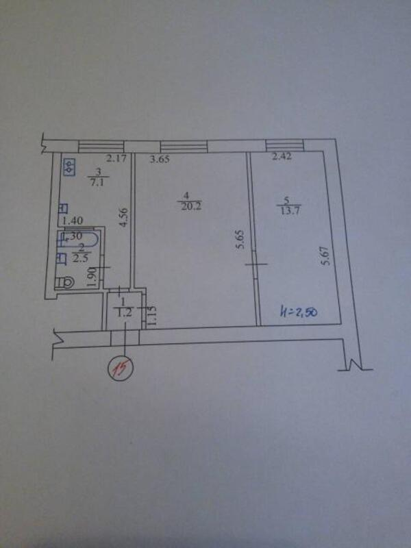 2 комнатная квартира, Харьков, Южный Вокзал, Гвардейцев Железнодорожников (494376 1)