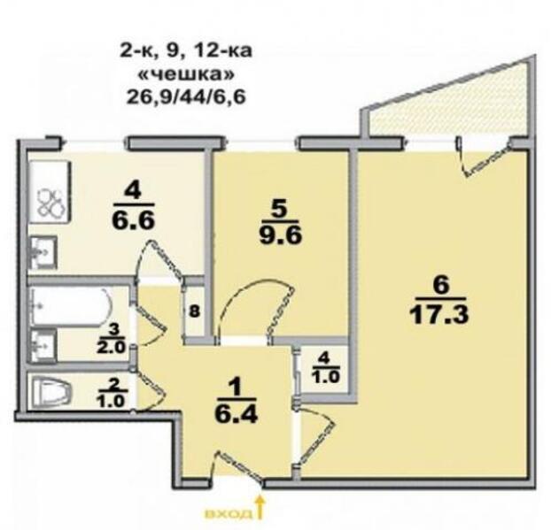 2 комнатная квартира, Харьков, ШИШКОВКА, Старошишковская (494451 1)