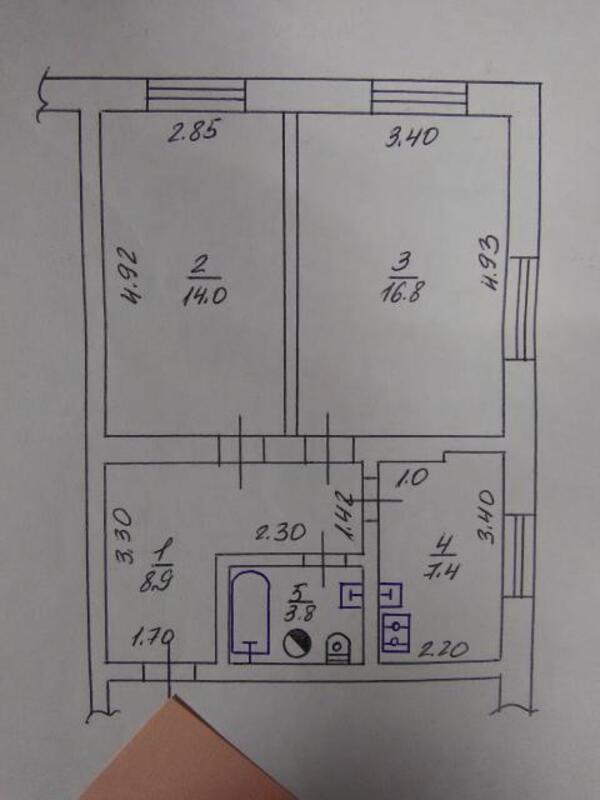 1 комнатная квартира, Харьков, Салтовка, Руслана Плоходько (Эйдемана) (494685 1)