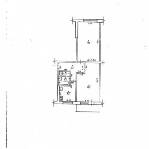 2 комнатная квартира, Харьков, Новые Дома, Ощепкова (494897 1)
