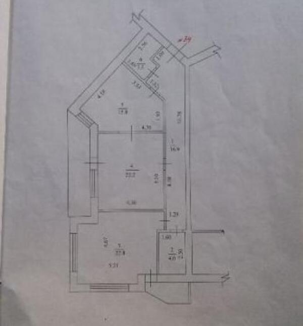 3 комнатная квартира, Харьков, Павлово Поле, Новопрудная (495111 1)