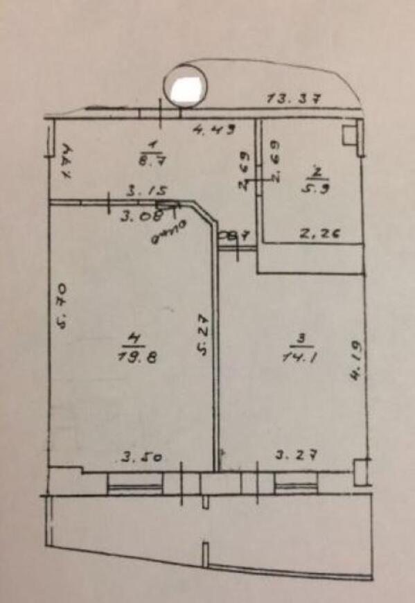 2 комнатная квартира, Харьков, Павлово Поле, Космонавтов (495292 1)