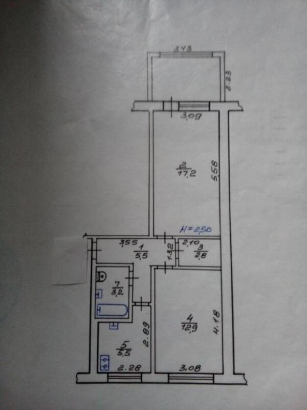 3 комнатная квартира, Харьков, Салтовка, Гвардейцев Широнинцев (495330 1)