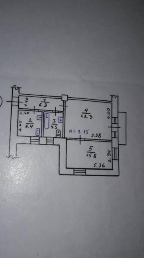3 комнатная квартира, Харьков, НАГОРНЫЙ, Веснина (495550 1)