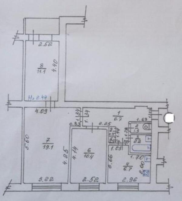 2 комнатная квартира, Харьков, Алексеевка, Архитекторов (496086 1)