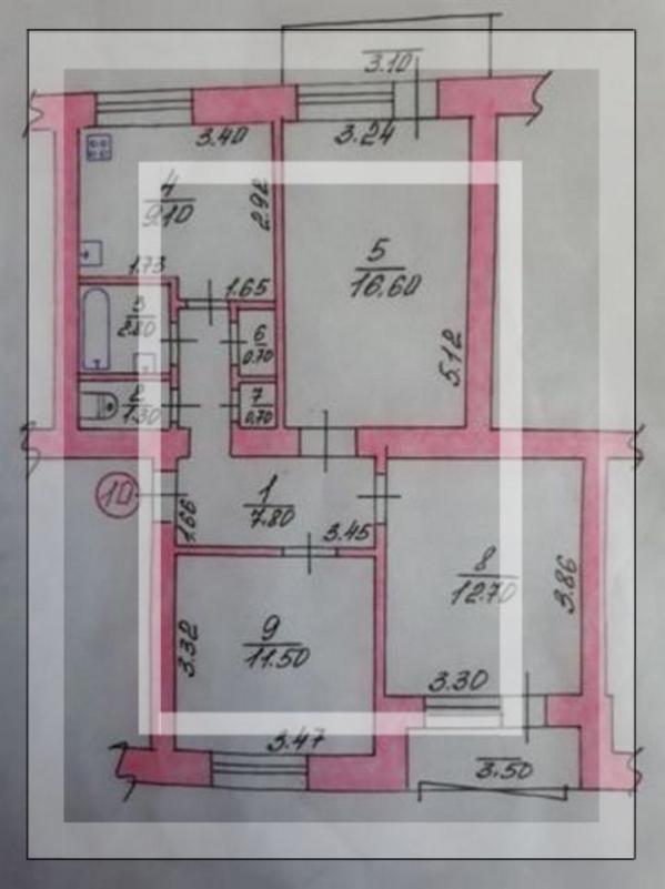 3 комнатная квартира, Мерефа, Шелкостанция, Харьковская область (497302 1)