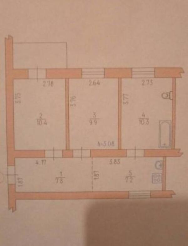 3 комнатная квартира, Харьков, ОДЕССКАЯ, Киргизская (498171 1)