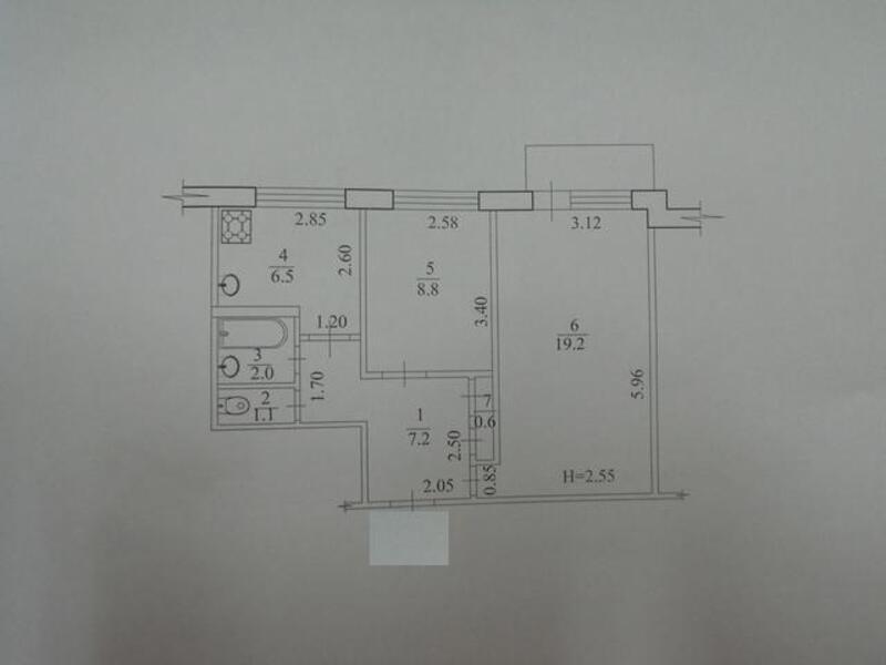 2 комнатная квартира, Харьков, Салтовка, Амосова (Корчагинцев) (498614 1)