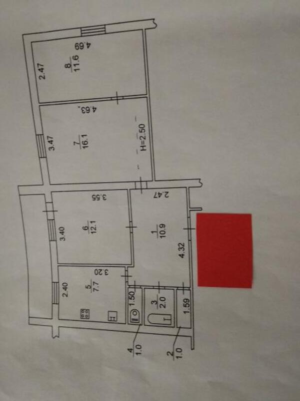 2 комнатная квартира, Харьков, Гагарина метро, Гагарина проспект (498728 1)