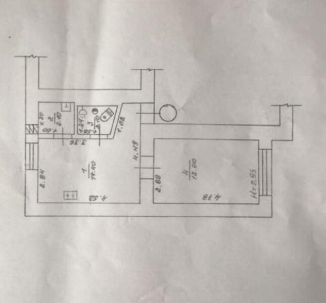 1 комнатная квартира, Харьков, Павлово Поле, Науки проспект (Ленина проспект) (499376 1)