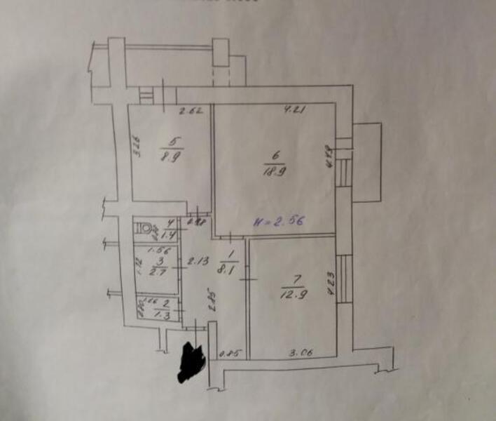3 комнатная квартира, Харьков, Восточный, Мира (Ленина, Советская) (503029 1)