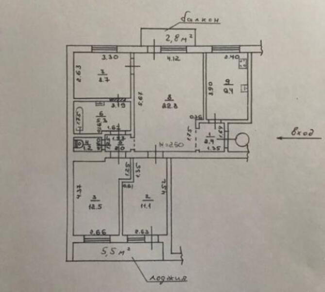 3 комнатная квартира, Харьков, НАГОРНЫЙ, Мироносицкая (503337 1)