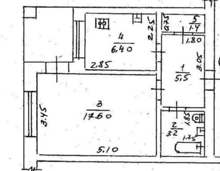 1 комнатная квартира, Харьков, ОДЕССКАЯ, Гагарина проспект (504223 1)