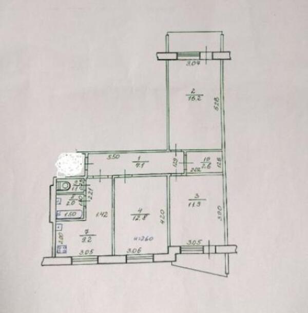 3 комнатная квартира, Харьков, Северная Салтовка, Гвардейцев Широнинцев (505345 1)