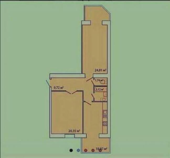 1 комнатная квартира, Харьков, Павлово Поле, 23 Августа (Папанина) (505461 1)