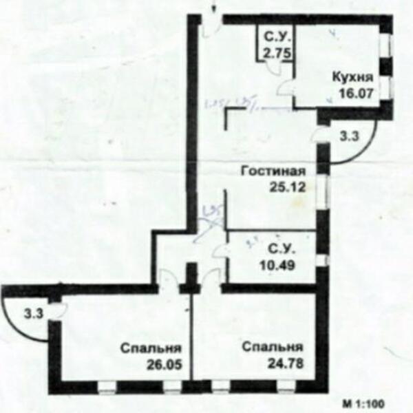 4 комнатная квартира, Харьков, Павлово Поле, Науки проспект (Ленина проспект) (506259 1)