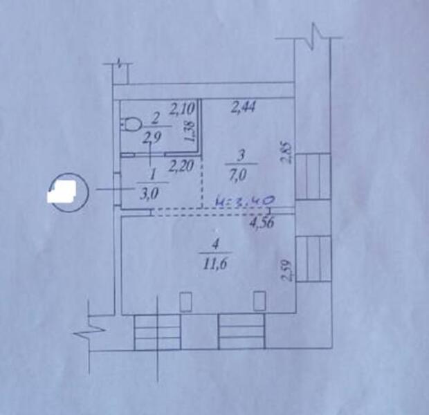 1 комнатная квартира, Харьков, Южный Вокзал, Малиновского (508357 1)