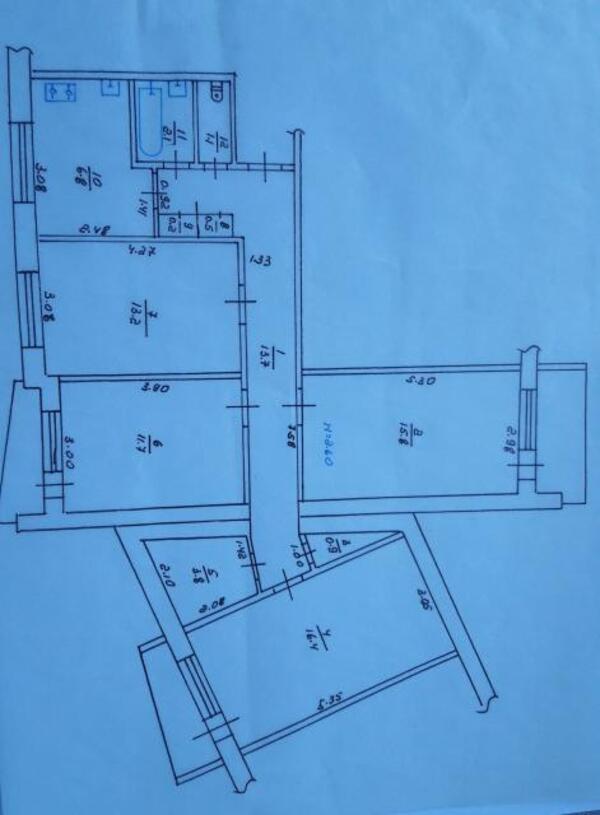 3 комнатная квартира, Харьков, Алексеевка, Победы пр. (509097 1)