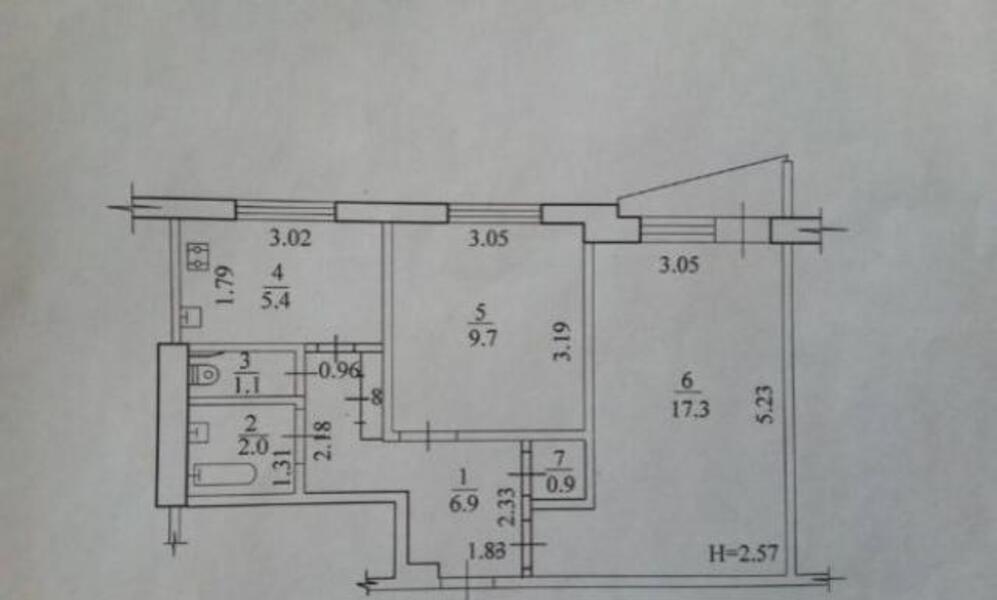 3 комнатная квартира, Харьков, Салтовка, Тракторостроителей просп. (509366 2)