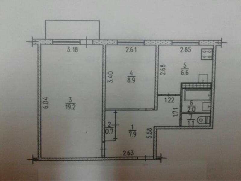 1 комнатная квартира, Харьков, Холодная Гора, Ильинская (509614 1)
