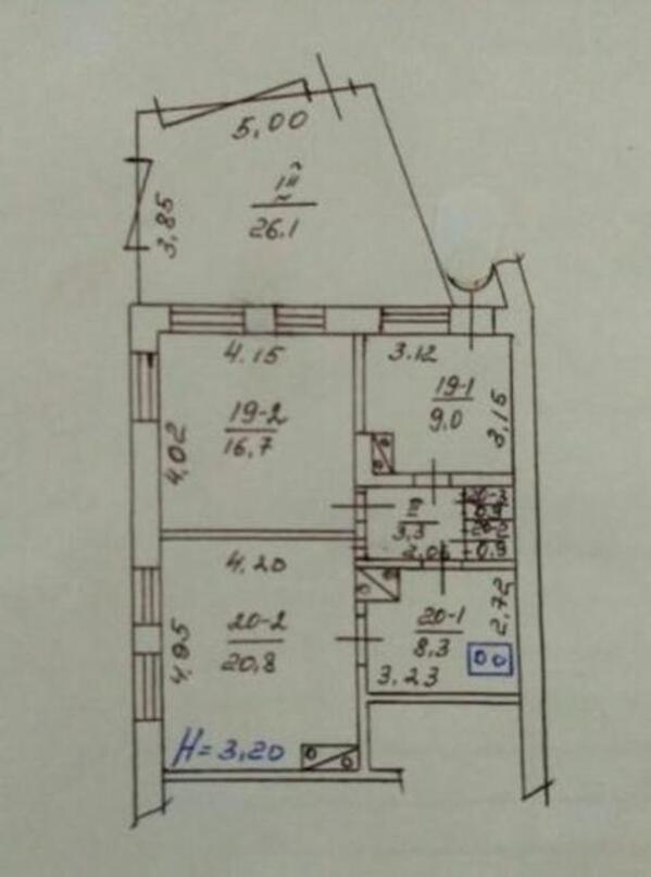2 комнатная квартира, Харьков, ПЯТИХАТКИ, Академика Вальтера (517889 1)
