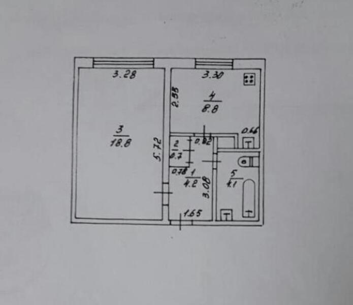 Квартира, 1-комн., Купянск, Купянский район, Юбилейная