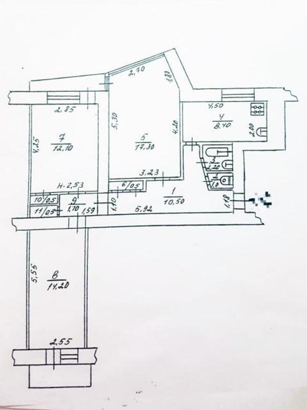 3 комнатная квартира, Харьков, Гагарина метро, Гагарина проспект (536518 1)