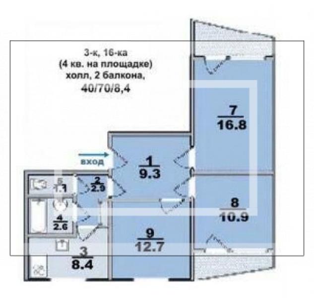 2 комнатная квартира, Харьков, Масельского метро, Московский пр т (541652 1)