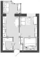 1 комнатная квартира, Харьков, Алексеевка, Ахсарова (546908 1)