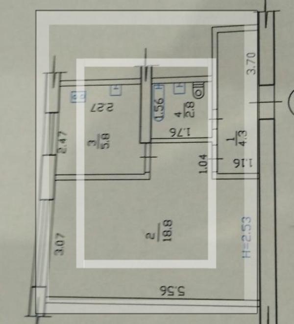 2 комнатная квартира, Харьков, Салтовка, Туркестанская (547786 1)