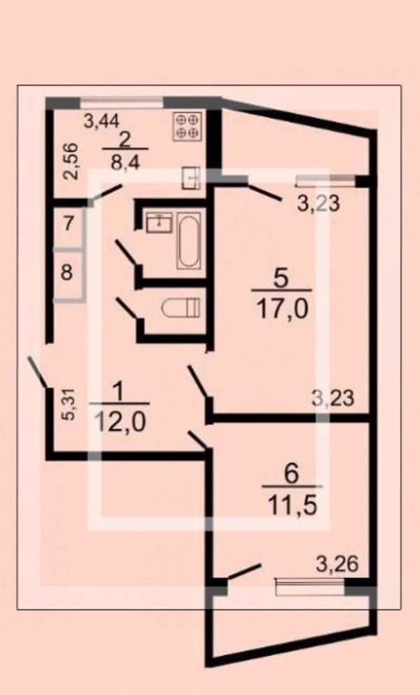 3 комнатная квартира, Харьков, Горизонт, Ростовская (559252 1)
