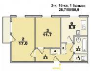 2-комнатная квартира, Харьков, ШИШКОВКА, Саперная