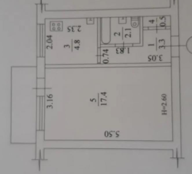 Купить 1-комнатная квартира, Харьков, Залютино, Старопрудная