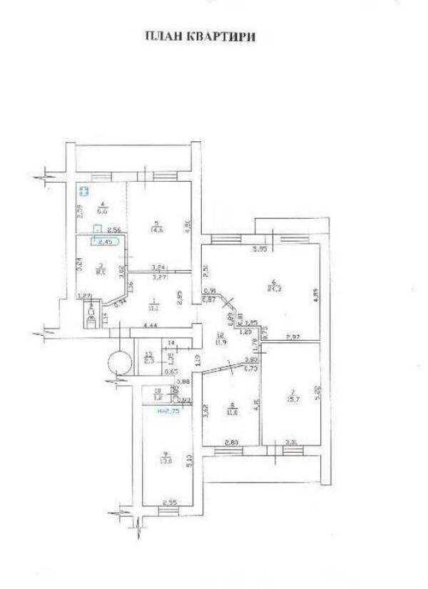 Купить 4-комнатная квартира, Харьков, Гагарина метро, Вернадского