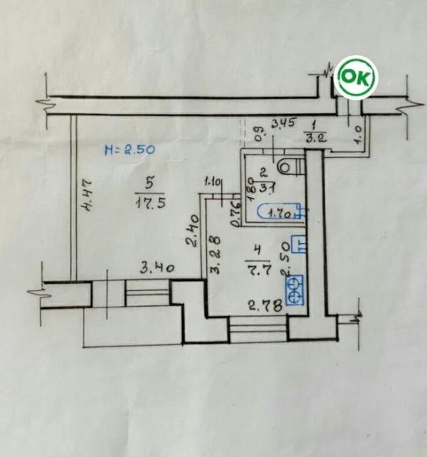 Купить 1-комнатная квартира, Харьков, Холодная Гора, Юрия Паращука (Минайленко)