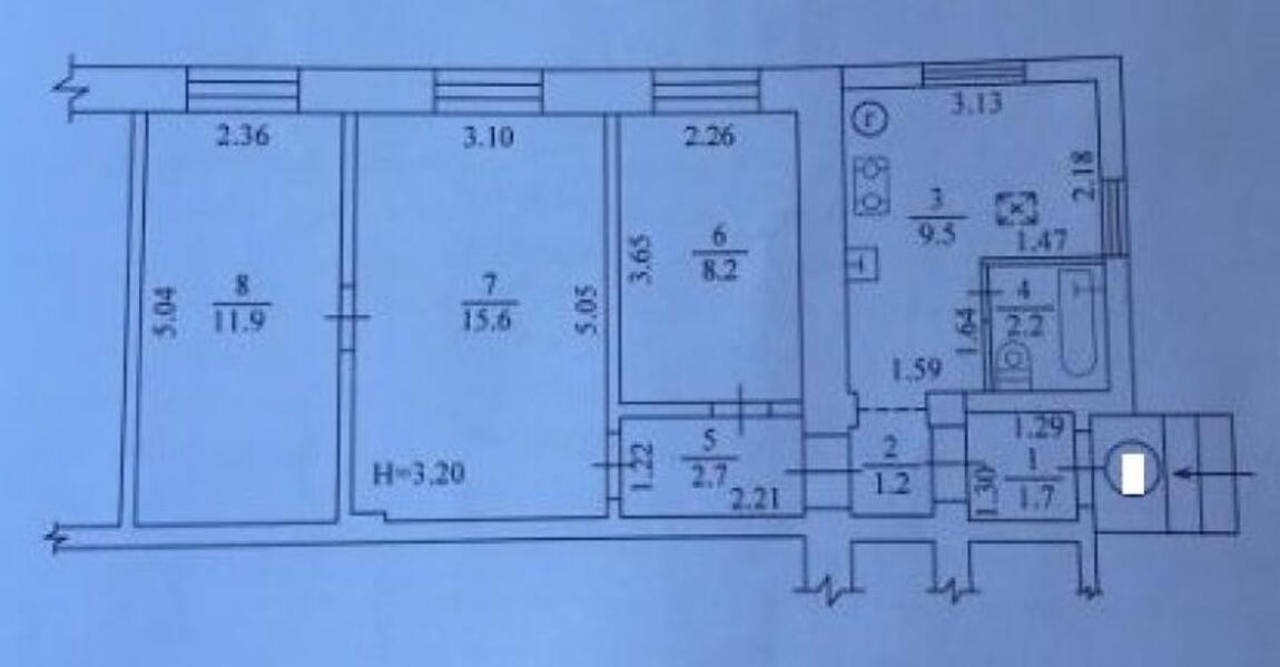 Купить 3-комнатная квартира, Харьков, Алексеевка, Музыкальная (Буденого)