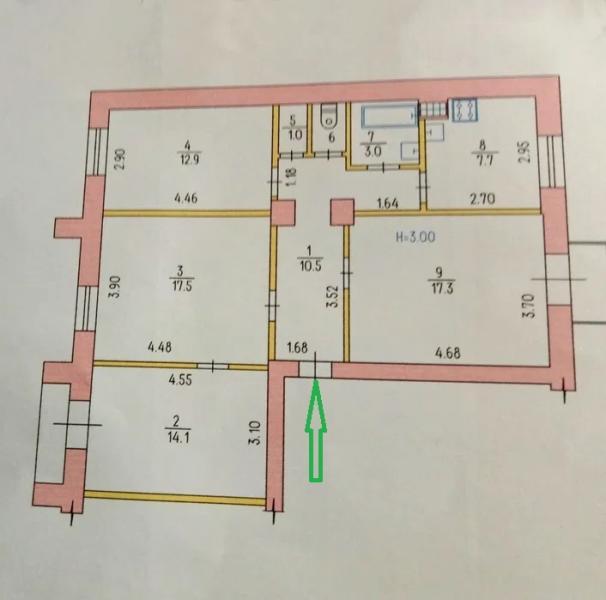 Купить 4-комнатная квартира, Харьков, Госпром, Данилевского