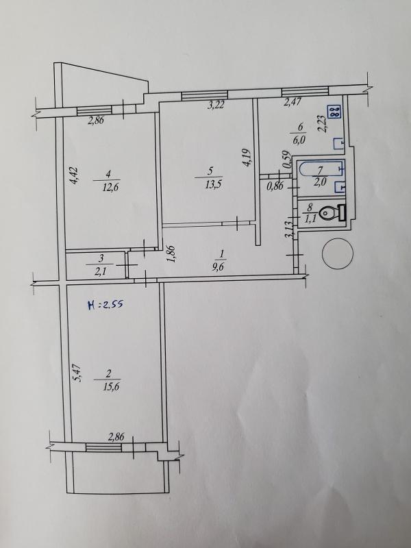Купить 3-комнатная квартира, Харьков, Салтовка, Амосова (Корчагинцев)