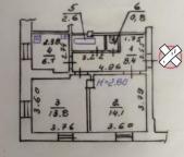 2-комнатная квартира, Харьков, Холодная Гора, Доватора