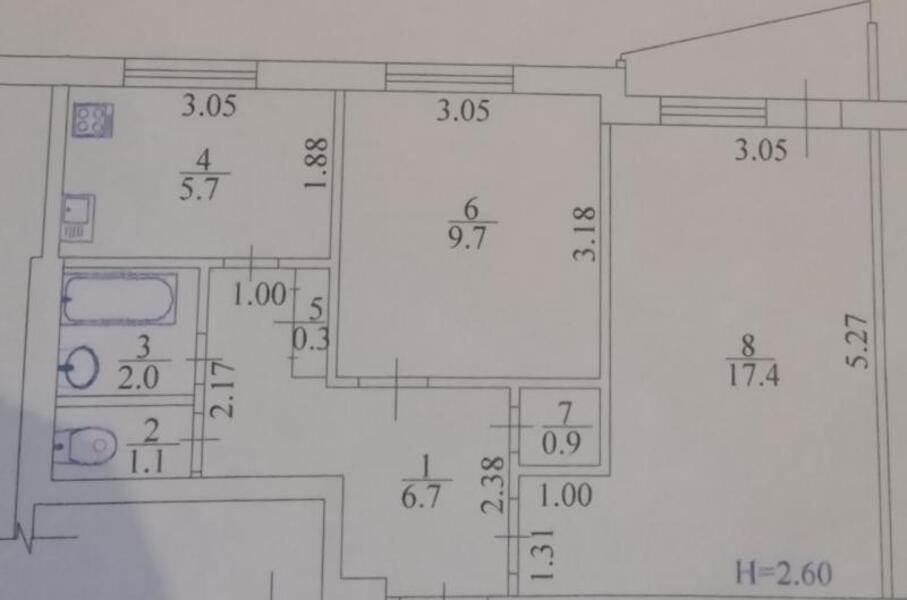 Купить 2-комнатная квартира, Харьков, Салтовка, Академика Барабашова