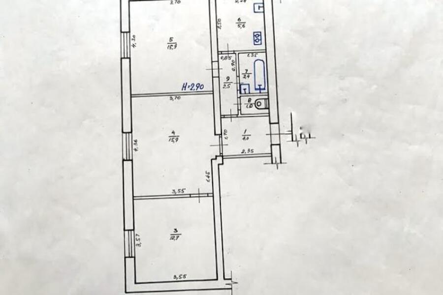 Купить 3-комнатная квартира, Харьков, Старая салтовка, Самсоновская (Крупской)