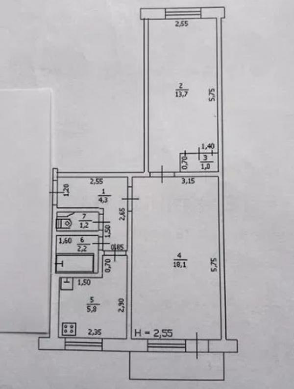 Купить 2-комнатная квартира, Чкаловское, Свободы (Иванова, Ленина), Харьковская область