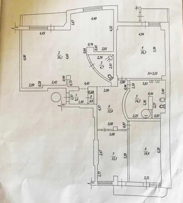Купить 3-комнатная квартира, Харьков, Павлово Поле, Науки пр.