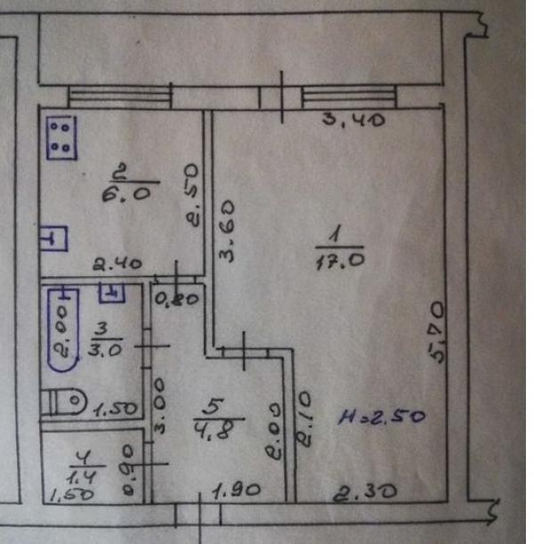 Купить 1-комнатная квартира, Харьков, Журавлевка, Матюшенко