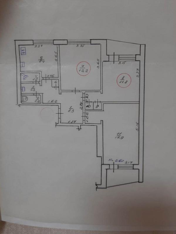 Купить 2-комнатная гостинка, Харьков, Павлово Поле, Деревянко