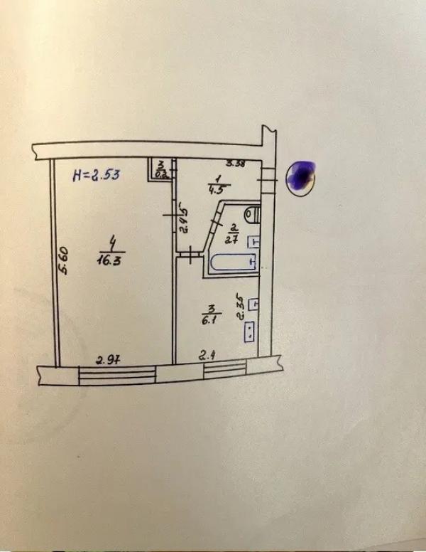 Купить 1-комнатная квартира, Харьков, Бавария, Петра Свинаренко
