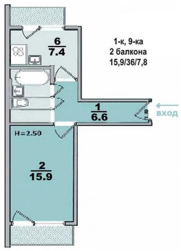Купить 1-комнатная квартира, Харьков, Восточный, Шариковая