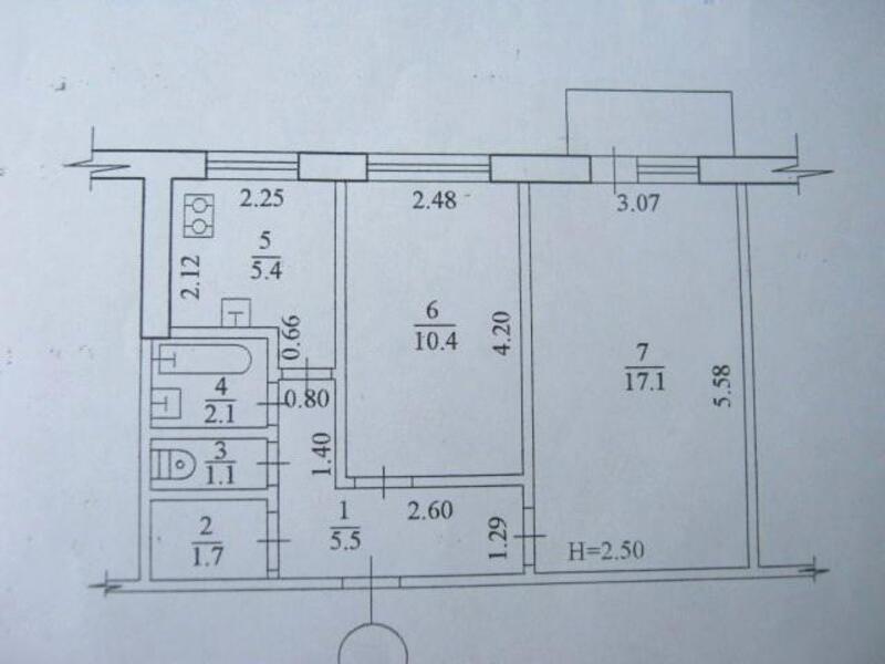 2 комнатная квартира/дом, Харьков, Салтовка, Гвардейцев Широнинцев (482741 2)