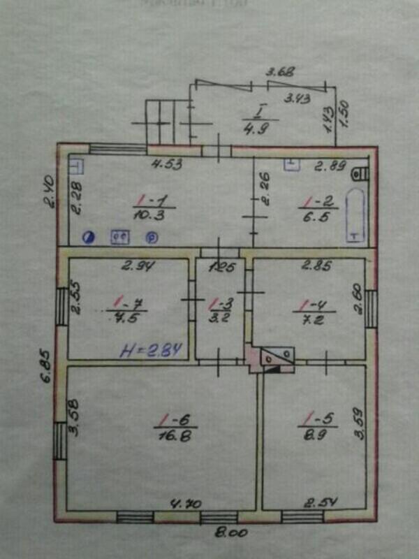 дом, 3 комн, Харьков, НОВОЗАПАДНЫЙ (445933 1)