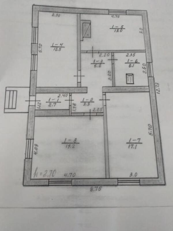 дом, 3 комн, Харьковская область, Волчанский район, Вильча, Волчанское направление (462434 1)